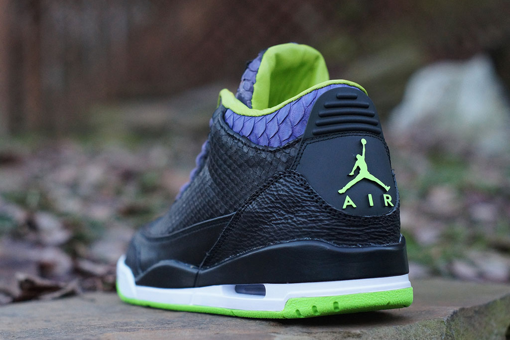 Air Jordan 3 Shark + Python + Kangaroo 'Joker' by JBF Customs (3)