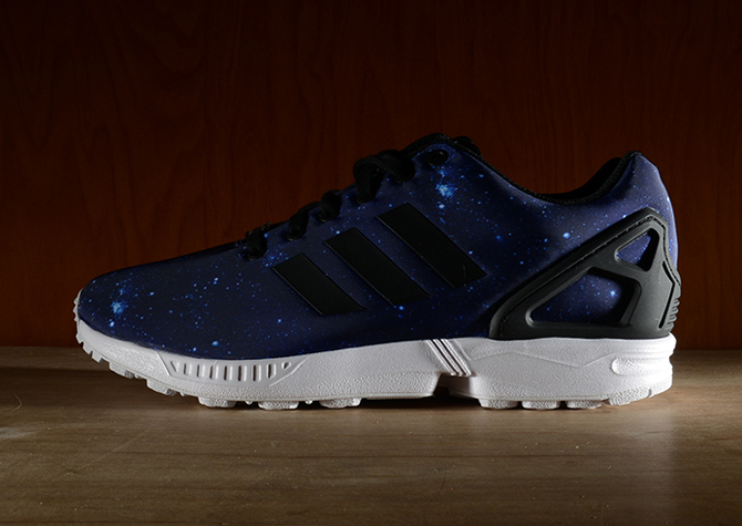 NEW Adidas Originals ZX FLUX Blue GALAXY Stars Print Shoes