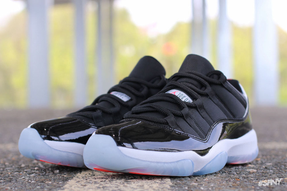 d0fb9955de815b Detailed   On-Foot Photos of the  Infrared  Air Jordan 11 Low