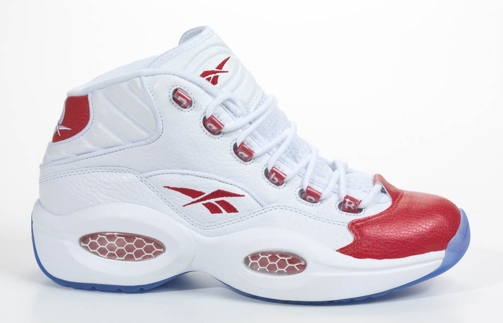 Reebok Question White Red 2012 Official Allen Iverson Shoes (1)