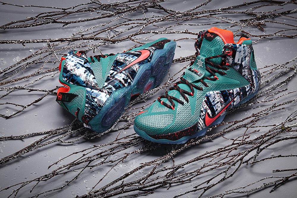 8433099b7507 The Nike LeBron 12 is ready for Christmas with this
