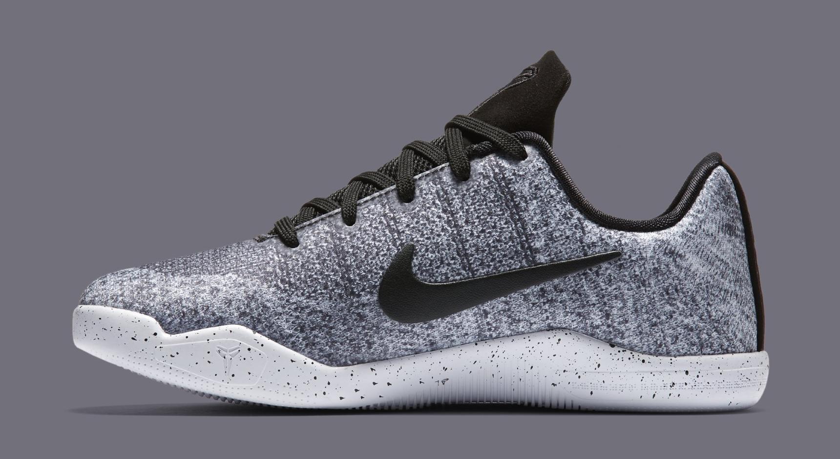 Nike Kobe 11 Oreo Kids 822945-100 Medial 55e97756ef3a