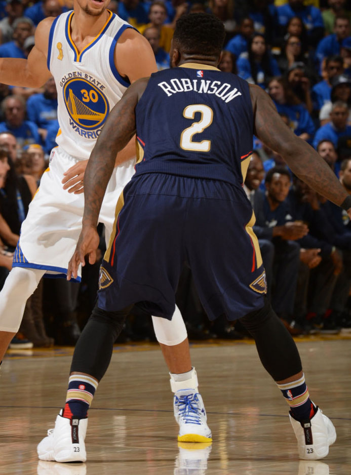 Nate Robinson wearing the 'Rising Sun' Air Jordan 12 (2)