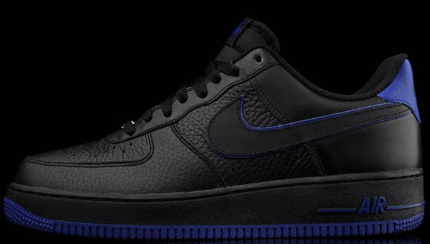 Nike Air Force 1 Low Black/Black-Old Royal