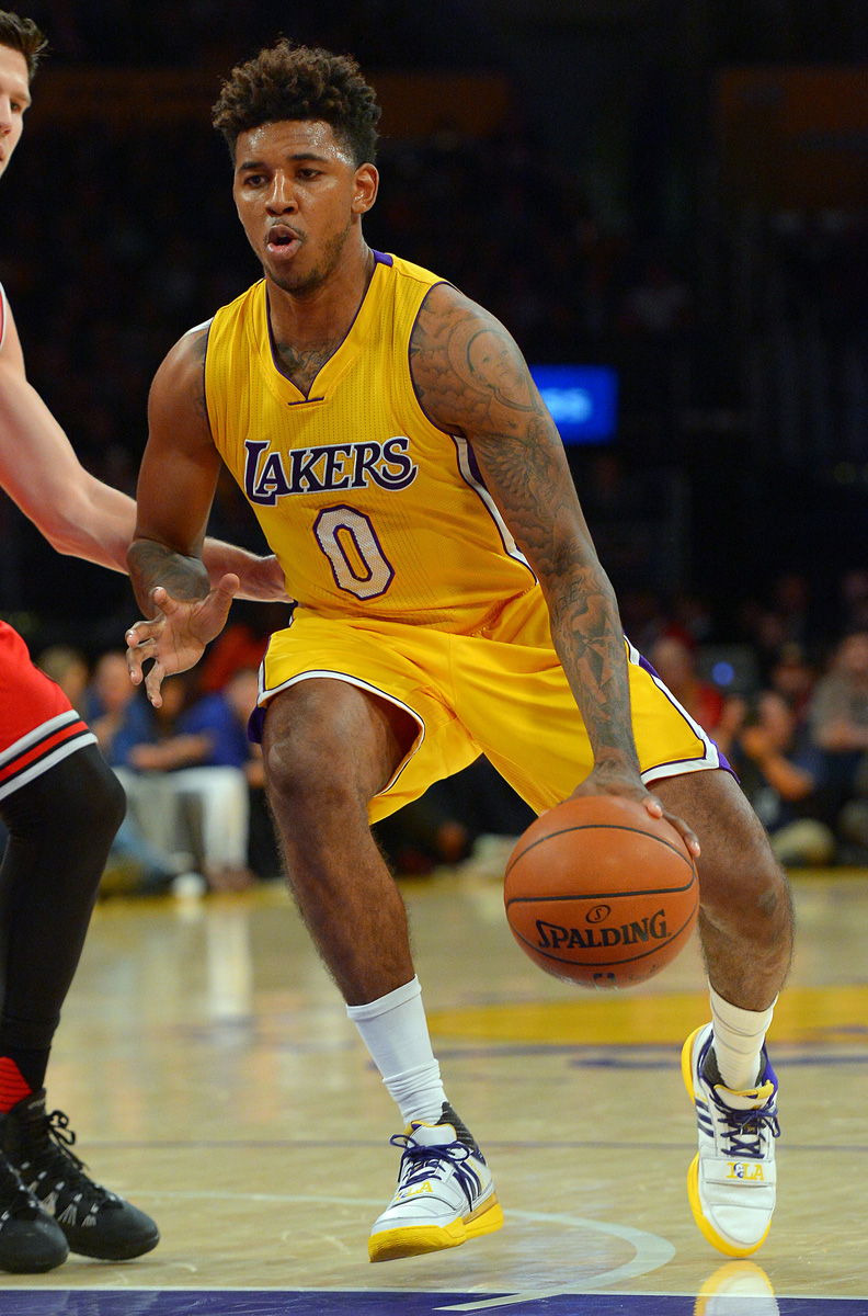 e4fd9193adcd SoleWatch  Nick Young Brings Back Gilbert Arenas  Lakers Shoes ...