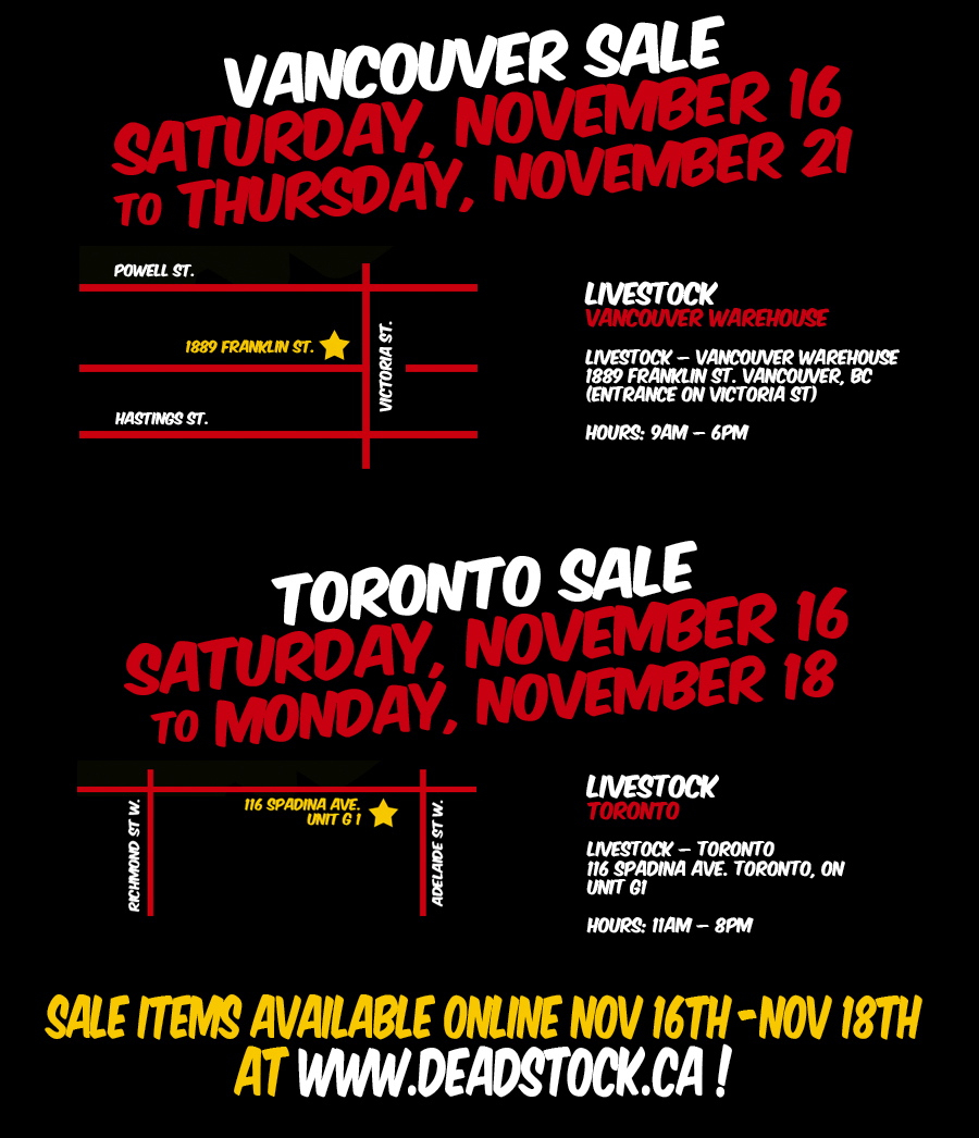 Livestock Canada Winter Warehouse Sale information