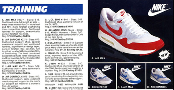 Nike Air Max 1 in Eastbay Catalog (1987)