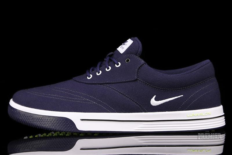 innovative design cea9b 221bb The Nike Lunar Swingtip CVS in Blackened Blue   White is available now at  Premier.