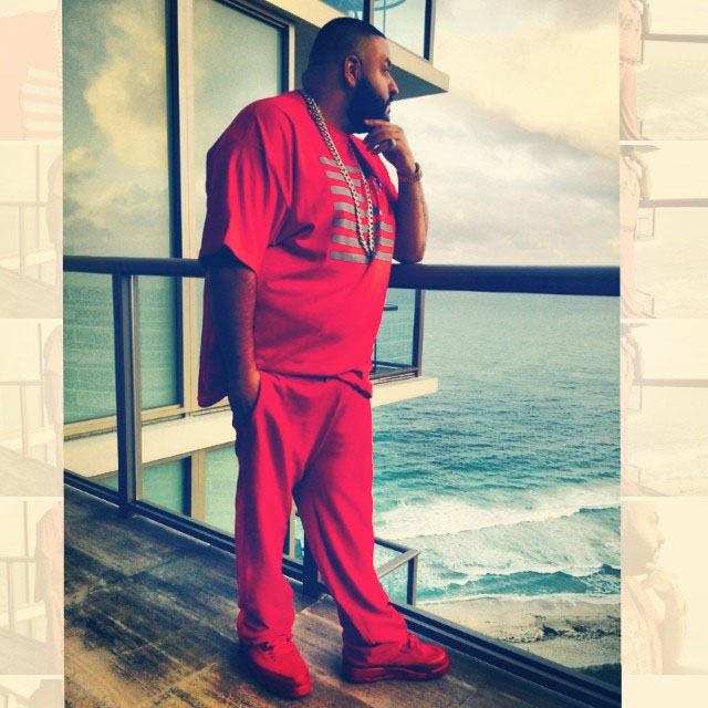 DJ Khaled wearing Air Jordan 3 Legends of the Summer