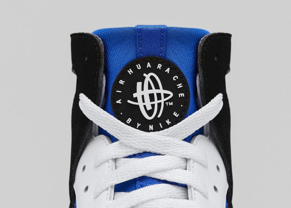 official photos 6daca 8eaf2 08 08 14 Nike Air Flight Huarache Premium QS 686203-100 White Black-Lyon  Blue-Bold Berry  120.00