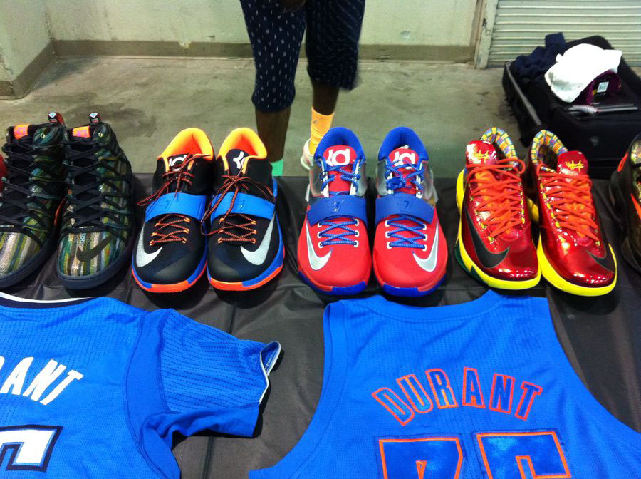 Randy Williams Displays Rare Nike KD Shoes (1)