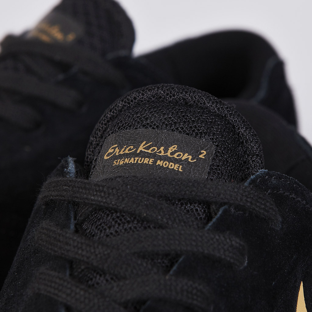 best sneakers a5434 b7ea3 The Nike SB Eric Koston 2 in Black   Metallic Gold is available now at  Flatspot.