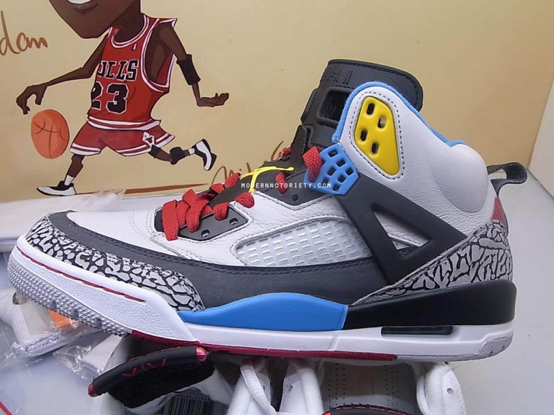 Air Jordan Spizike OG Cements White Cement Grey Black shoes