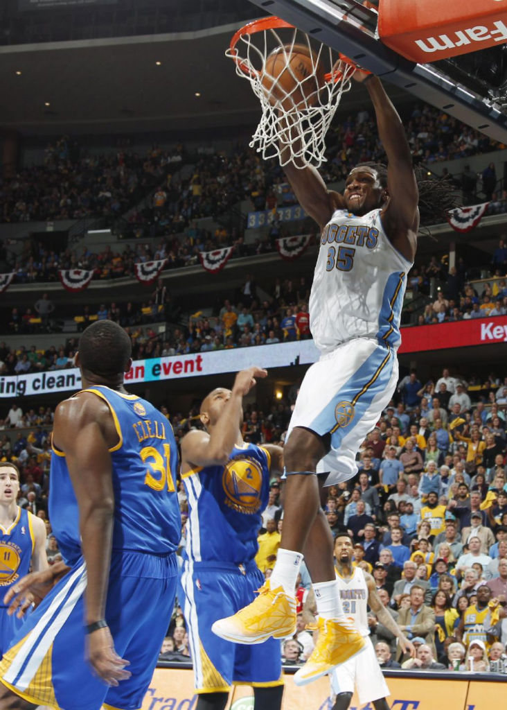 Kenneth Faried wearing adidas Crazy Fast Yellow White