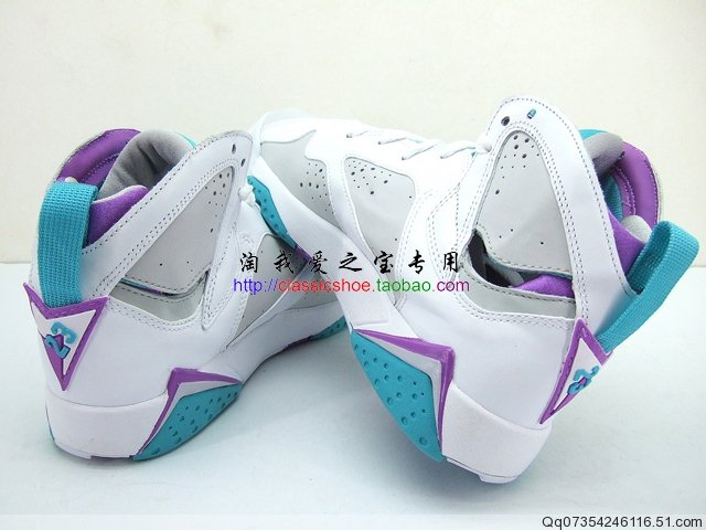 new products 6c383 162b4 Air Jordan Retro 7 Neutral Grey Mineral Blue Bright Violet White 442960-001