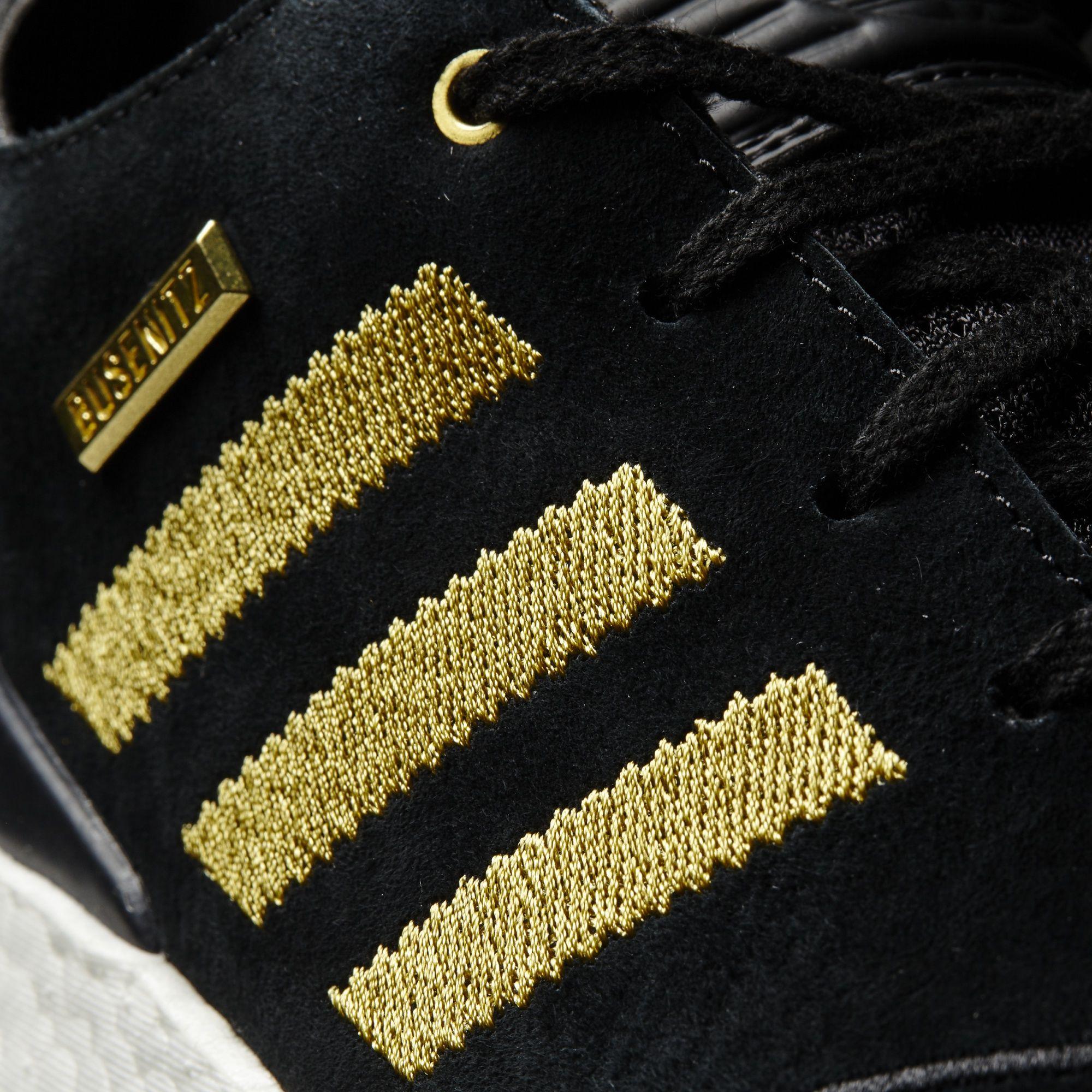 Adidas Busenitz 10 Year Anniversary Black Gold Detail