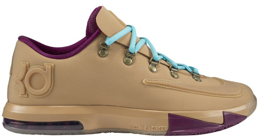 b796024c4b6d Nike KD VI EXT Gum QS  Wheat  639046-900 Gum Light Brown Gum Light  Brown-Raspberry Red
