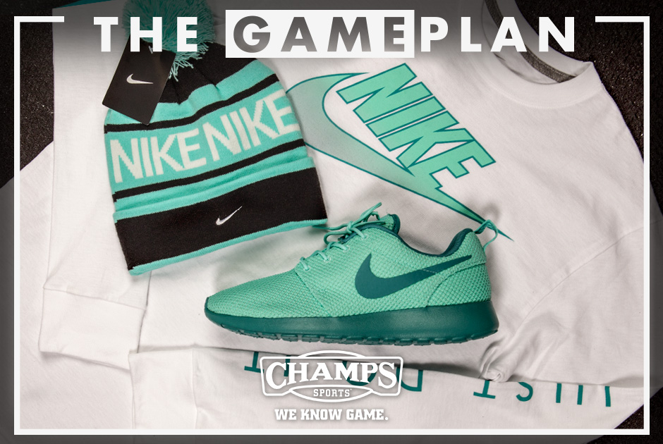 dfbd90bf6c1 ... The Game Plan by Champs Sports Presents the Nike Hyper Jade Collection  ...