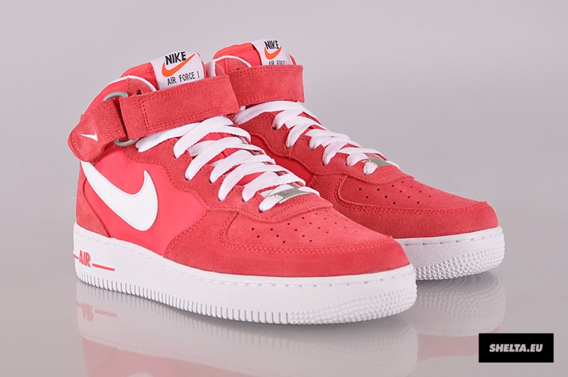 nike air force 1 mid rosse