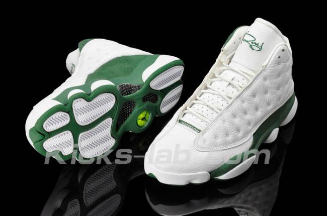 Air Jordan 13 Retro Ray Allen PE White Clover shoes