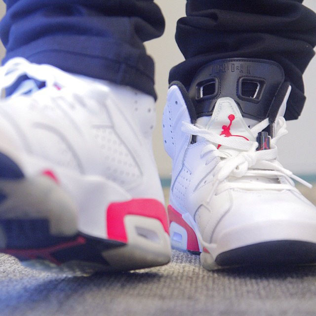 Bow Wow Picks Up Air Jordan 6 White/Infrared