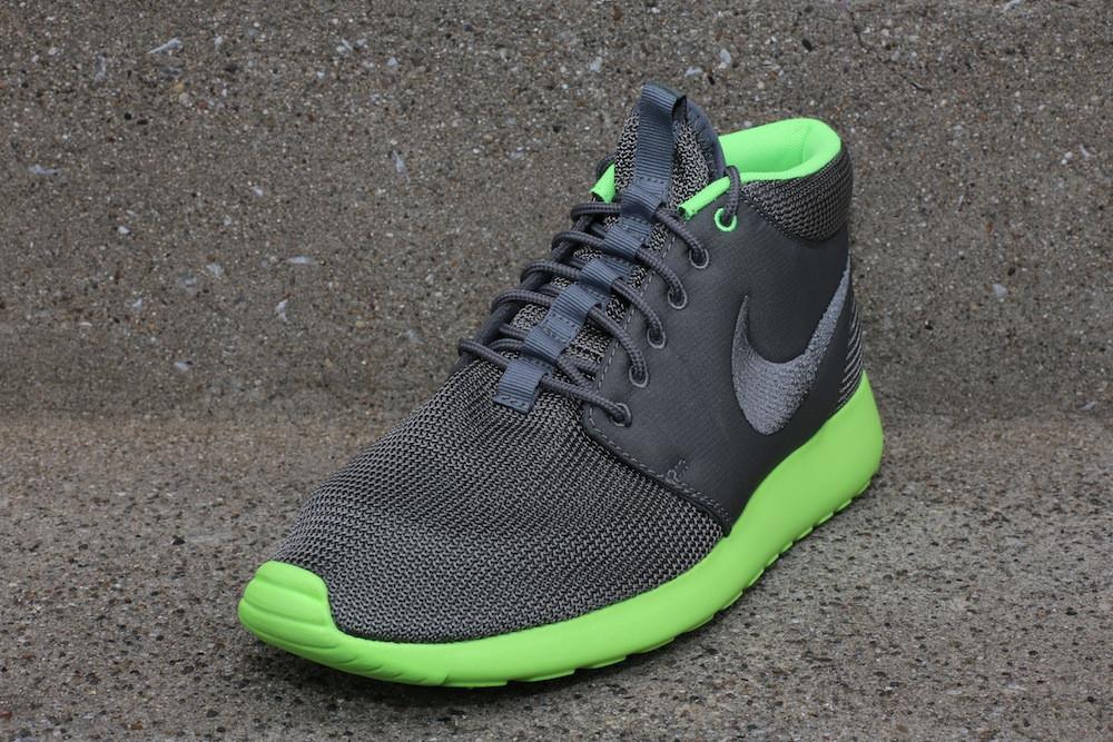 nike air max lebron 7 all star - Nike Roshe Run Mid - 'Mercury Grey / Flash Lime' | Sole Collector