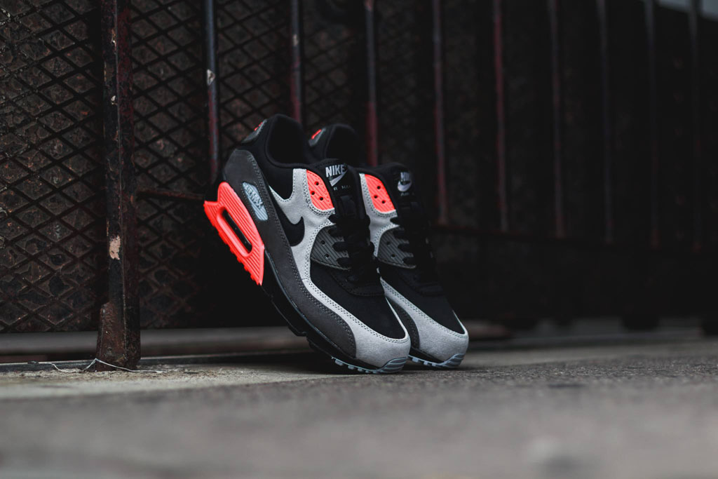 Nike Air Max 90 Leather Total Crimson 666578-003 (1)