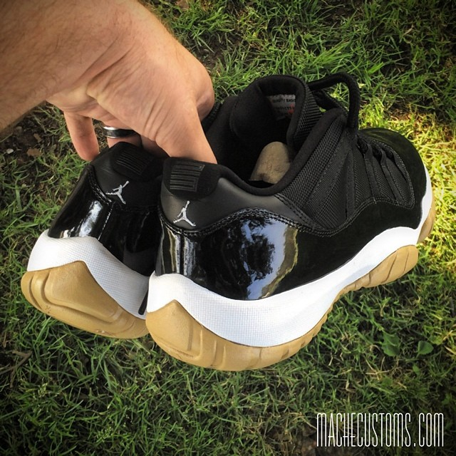 7d300a9fc2 Air Jordan 11 Low  Gum Bottom  by Mache Custom Kicks