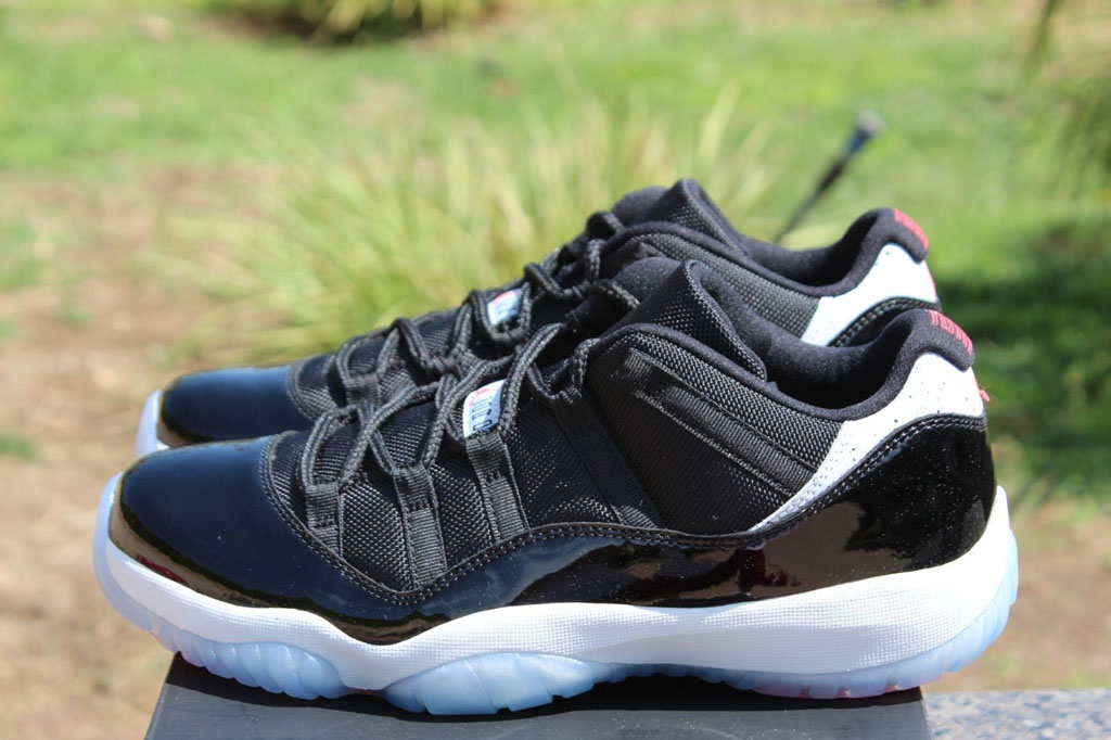 Detailed   On-Foot Photos of the  Infrared  Air Jordan 11 Low  a6854d05b6