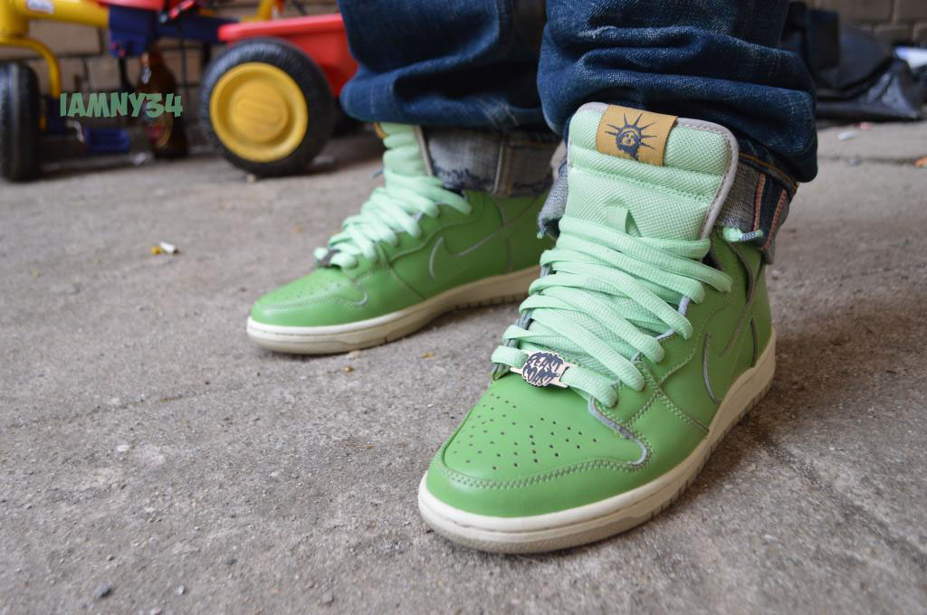 Spotlight: Forum Staff Weekly WDYWT? - 3.14.14 - iamny34 wearing Nike Dunk High SB Statue of Liberty