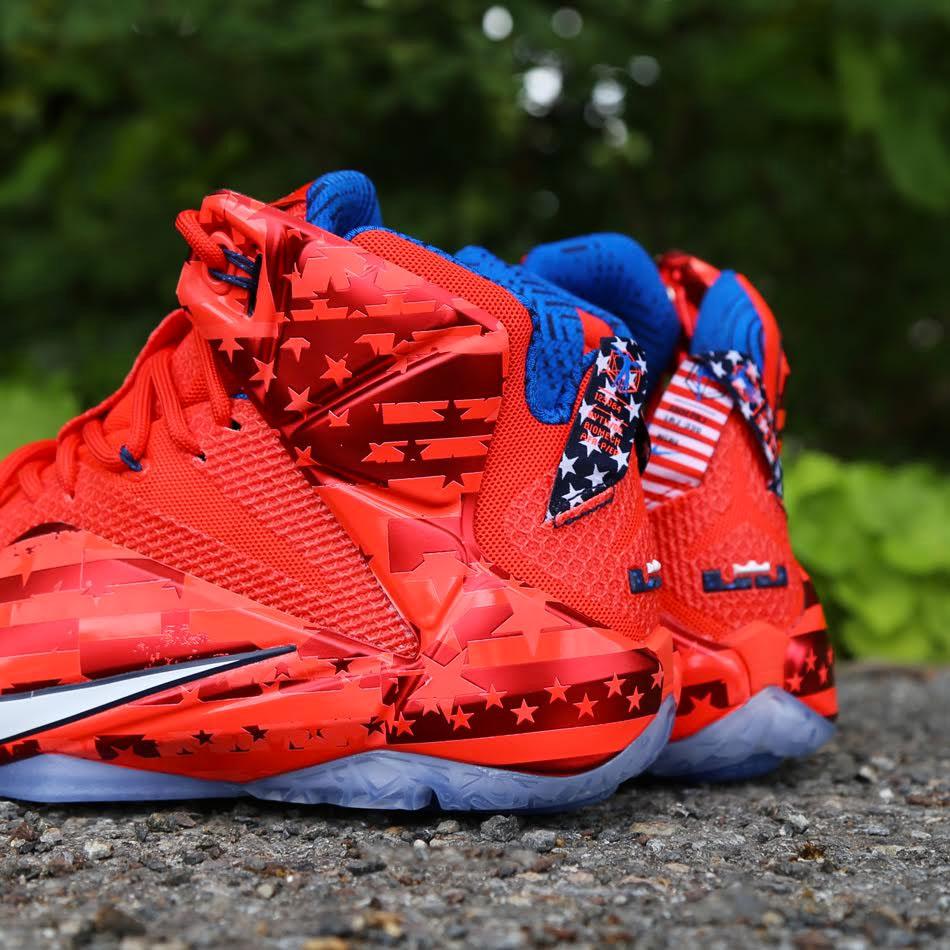 san francisco f8438 463a3 Nike LeBron XII 12 USA 684593-616 (4)