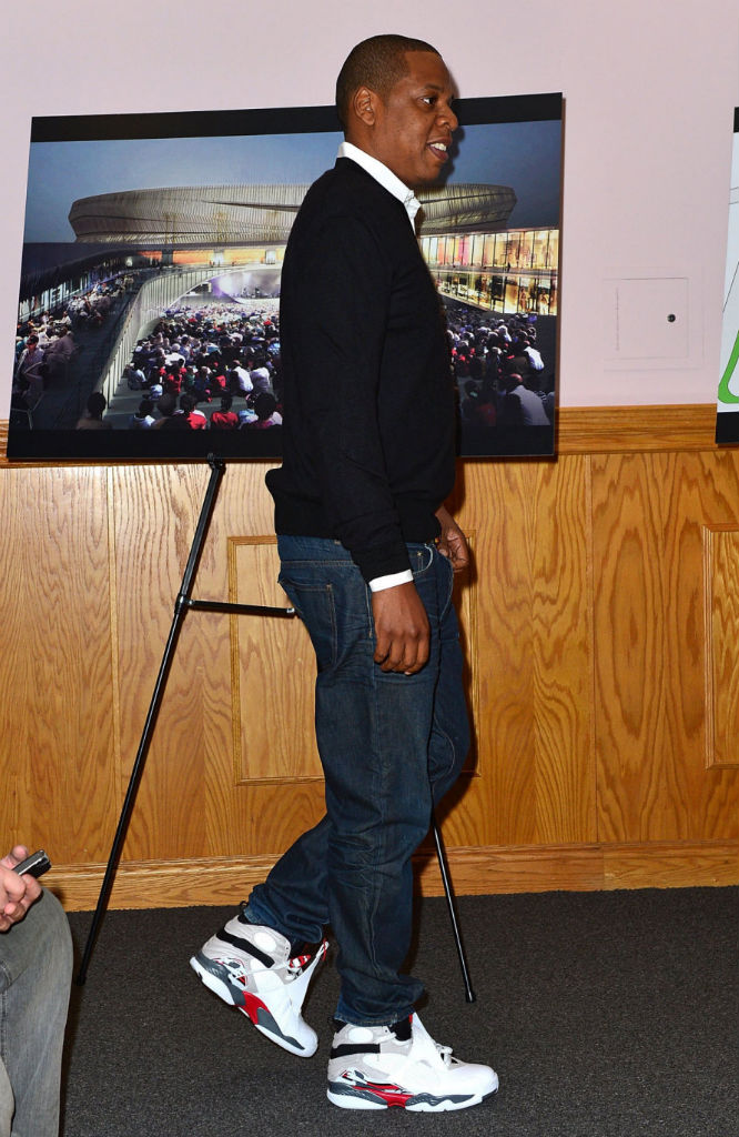 Jay-Z wearing Air Jordan Retro VIII 8 Bugs