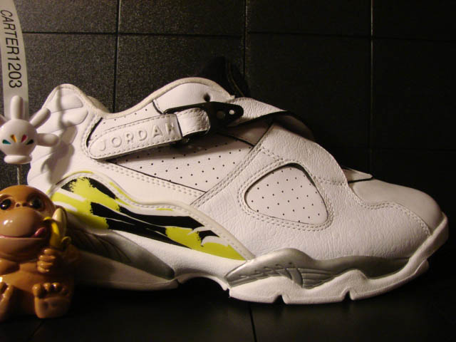Air Jordan WMNS Retro 8 Low - White/Black-Bright Cactus Sample