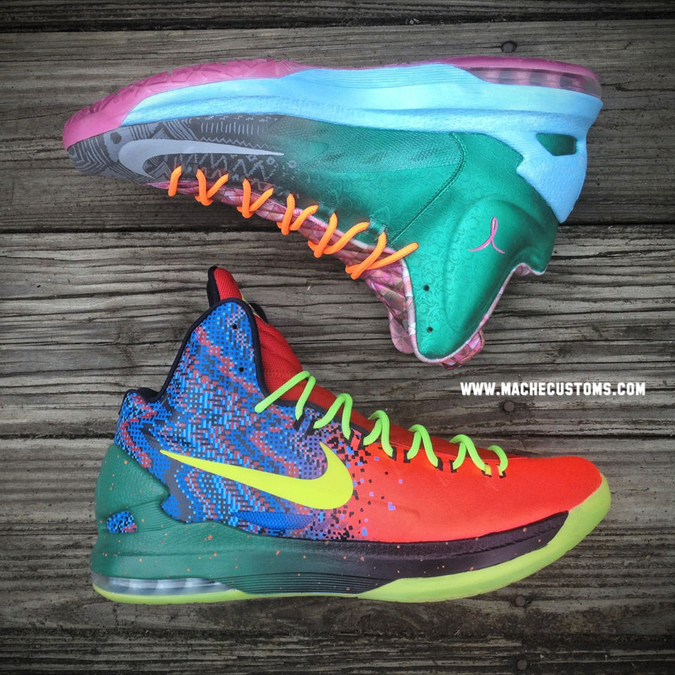 "Nike KD V ""What the KD"" by Mache Custom Kicks (3)"