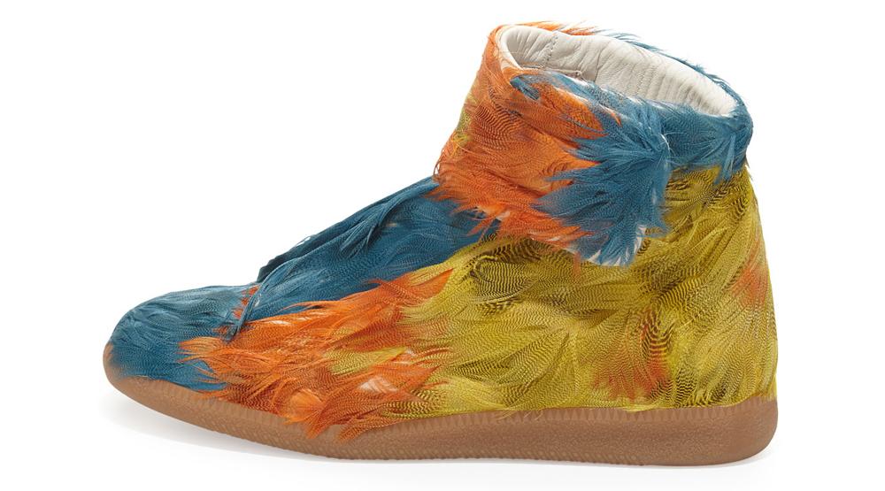 f290efbc7cba5 Margiela Duck Feather Sneakers Multicolor