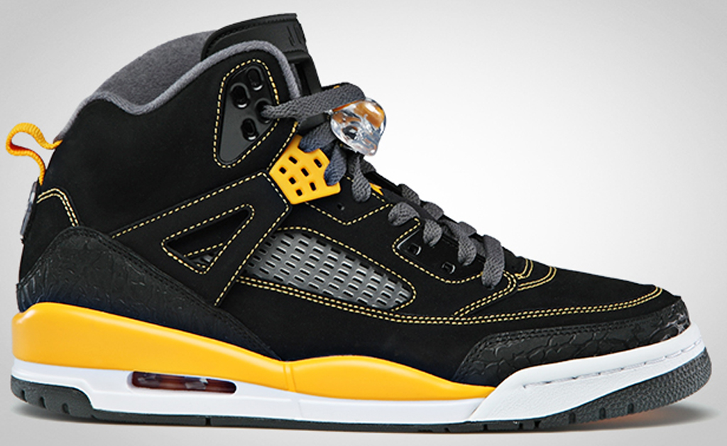 finest selection 913ab 3a5ff Jordan Spiz ike 315371-030 Black University Gold-Cool Grey-White
