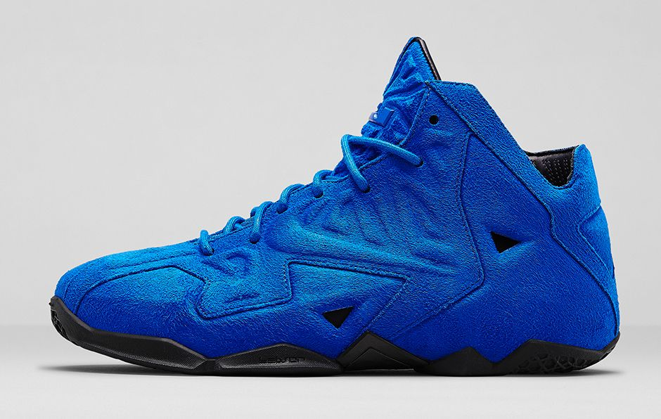 Nike LeBron 11 EXT Blue Suede Profile
