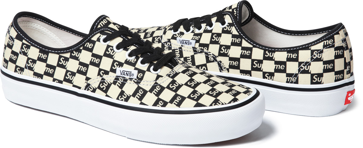 83a91f2bad Image via Supreme Supreme Vans Authentic Checker Black Image via Supreme  Supreme Vans Checkerboard Sk8 Hi