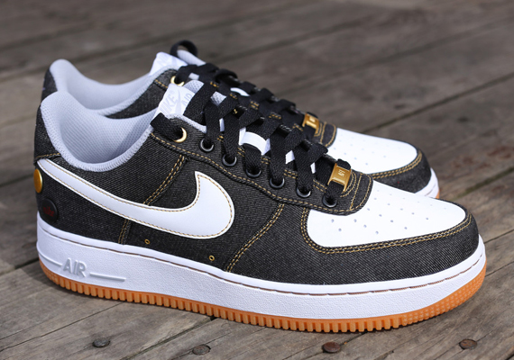 Nike Air Force 1 Faible Texture Denim Brun