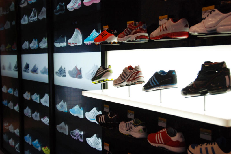 Video adidas unveils adiverse virtual shopping wall for Sneaker wall display