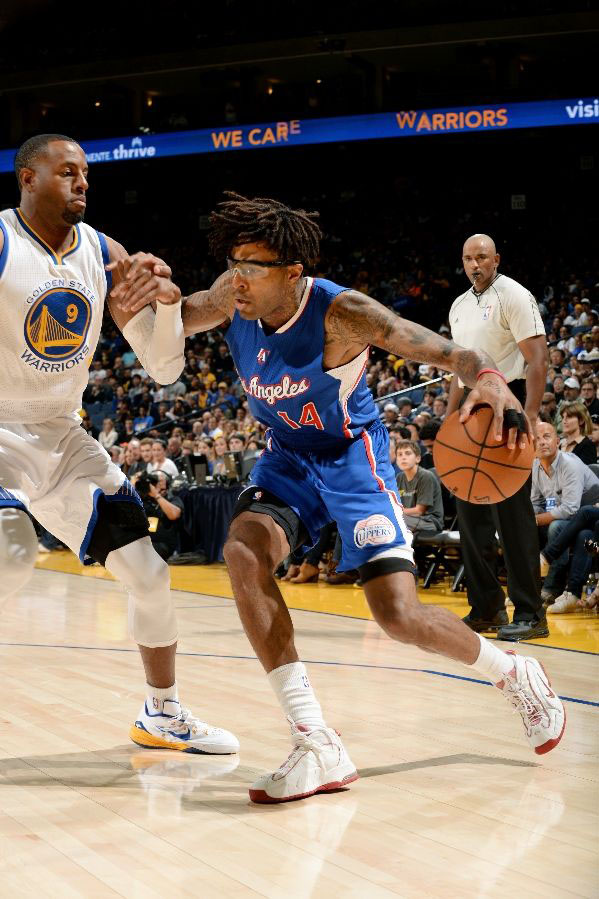 Chris Douglas Roberts wears Nike Air Penny 1 White/Red 2005