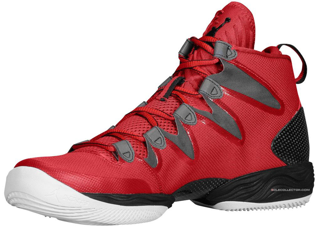 Air Jordan XX8 SE Gym Red White Wolf Grey 616345-601 (2)
