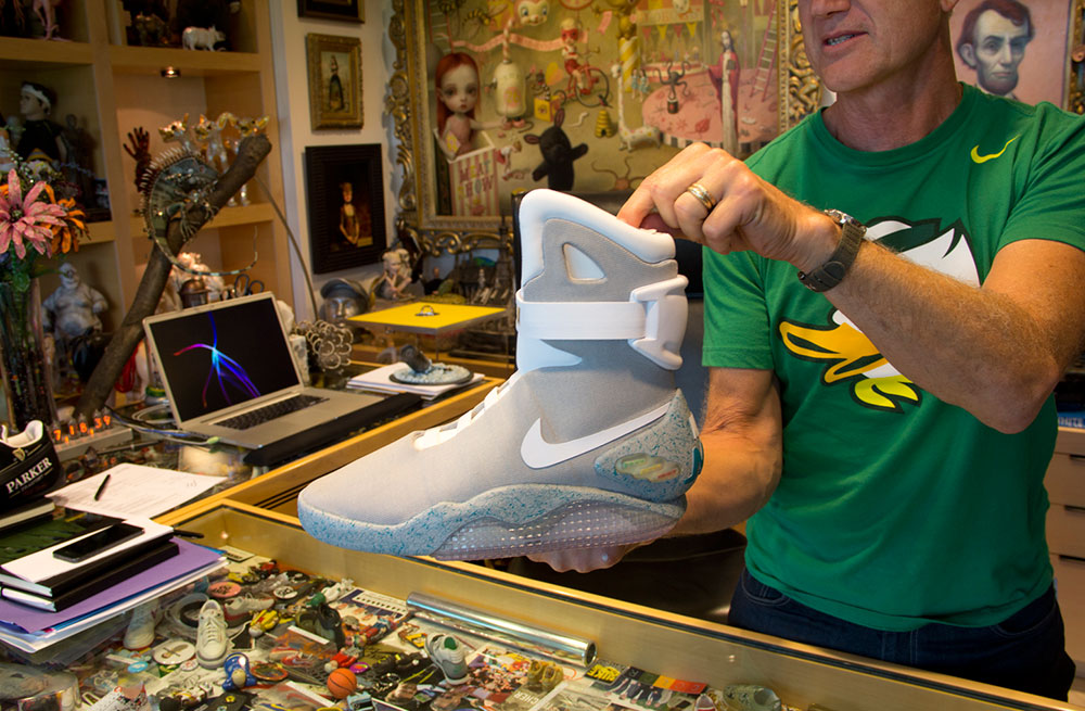 Tinker Hatfield with the Nike Air Mag