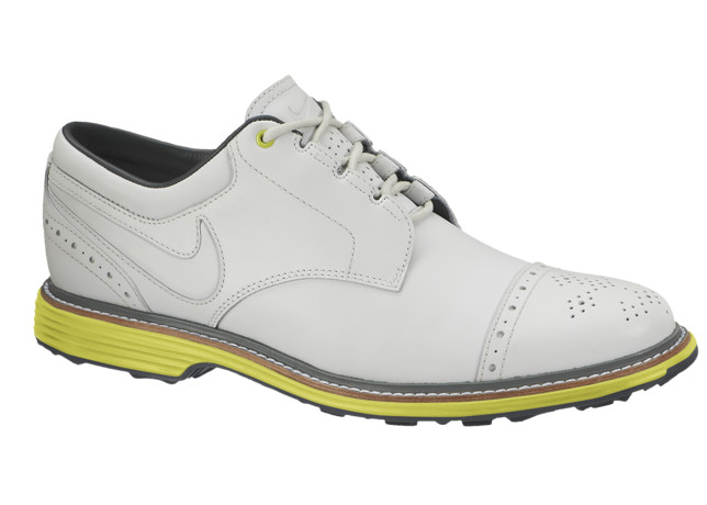 Nike Golf Lunar Clayton in White and Volt