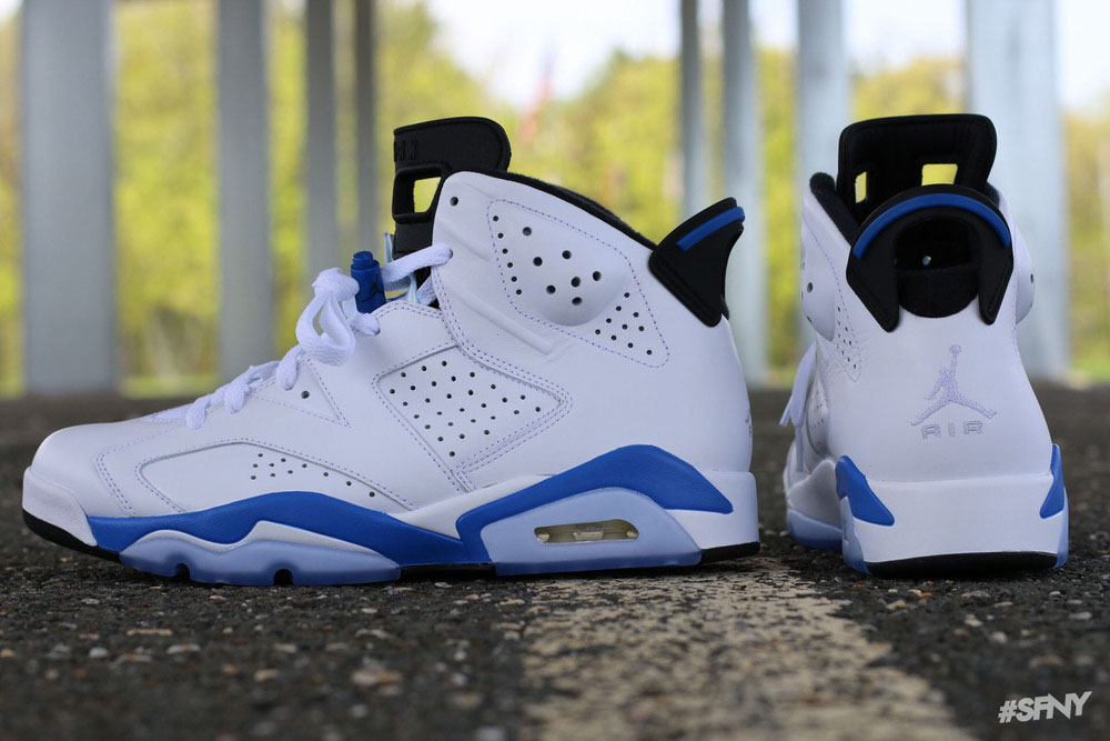 promo code ee2ba bbb38 Air Jordan 6 'Sport Blue' From All Angles | Sole Collector