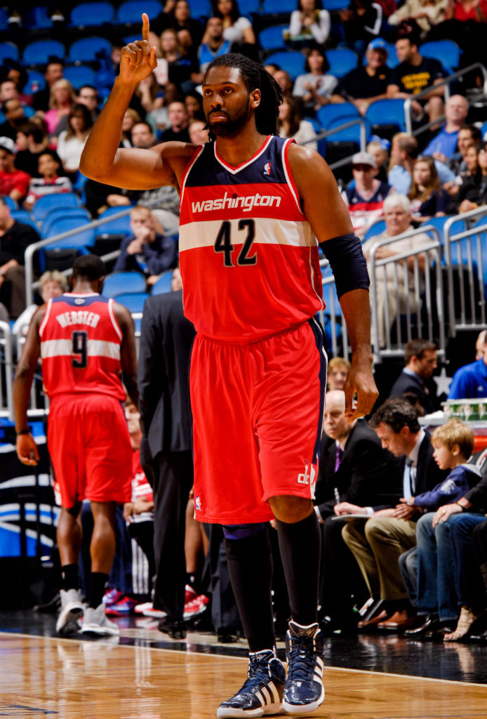 Nene wearing adidas adiPower Howard Navy