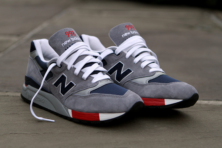 new style 31f86 471fb New Balance 998 - Grey/Navy/Red | Sole Collector