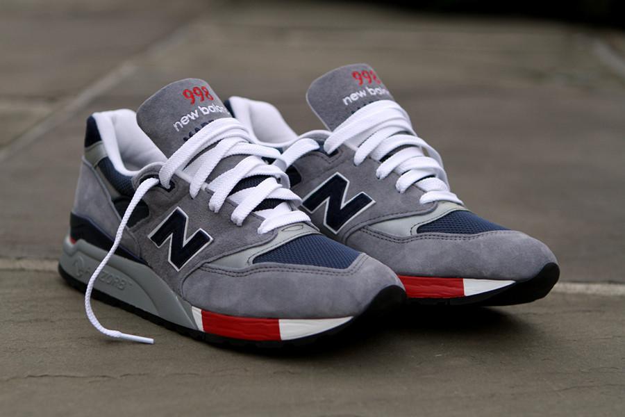red new balance 998 running