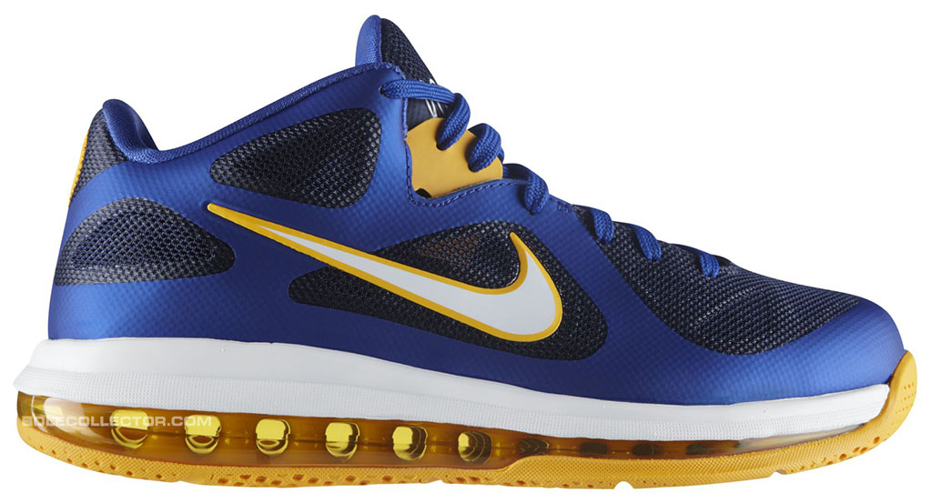 Nike LeBron 9 Low Entourage WBF Game Royal University Gold Midnight Navy  510811-402 (