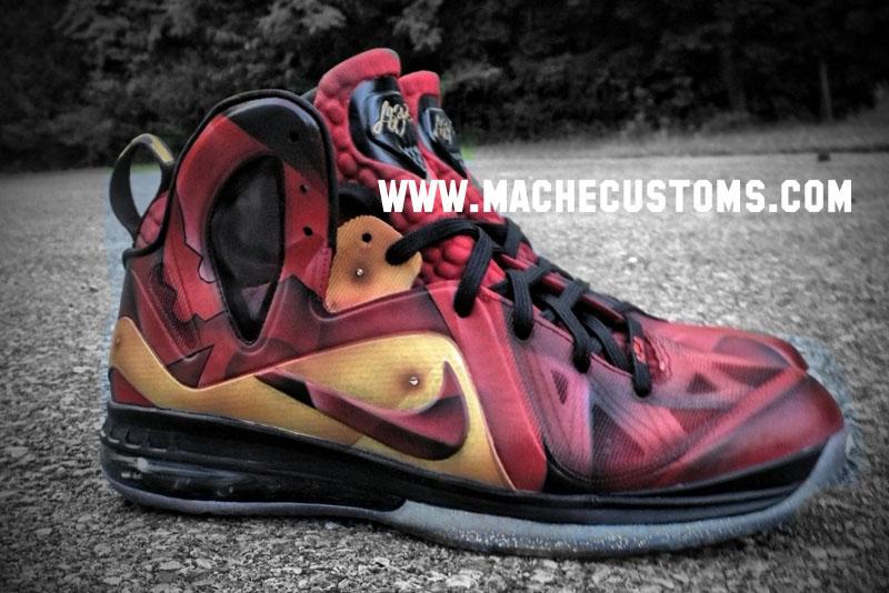 new products 2c66c 553d0 Nike LeBron 9 P.S. Elite Tony Stark by Mache Custom Kicks (4)
